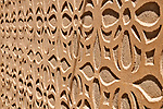 Detail of the typical archiecture facade in Segovia; mudejar is a style of architecture and in Segovia the style uses elaborate plaster carving with complicated patterns to enliven a wall; this technique is still used today