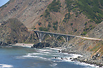 Big Creek Bridge, View from Highway One, Big Sur Area, California, USA
