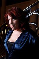 Canadian contralto Marie Nicole Lemieux posing at the Theatre des Champs Elysees on April 09, 2011 in Paris. Picture by Manuel Cohen / Epicureans Photographers