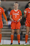 20 October 2013: Clemson's Tabitha Padgett. The University of North Carolina Tar Heels hosted the University of Virginia Cavaliers at Fetzer Field in Chapel Hill, NC in a 2013 NCAA Division I Women's Soccer match. North Carolina won the game 2-0.