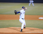 Mississippi's Matt Tracy pitches vs. Memphis baseball at Oxford-University Stadium in Oxford, Miss. on Tuesday, March 2, 2010. Mississippi won 7-2 to improve to 7-1 on the season.