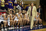 23 MAR 2012:  Sue Ramsey, head coach of Ashland University looks up at the final score after being defeated by Shaw University during the Division II Womens Basketball Championship held at Bill Greehey Arena in San Antonio, TX.  Shaw University defeated Ashland University  88-82 for the national title.  Rodolfo Gonzalez/ NCAA Photos