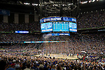 02 APR 2012:  The University of Kentucky erupts off the bench during the 2012 NCAA Men's Division I Basketball Championship Final Four held at the Mercedes-Benz Superdome hosted by Tulane University in New Orleans, LA.  The University of Kentucky beat the University of Kansas 67-59. Joshua Duplechian/ NCAA Photos