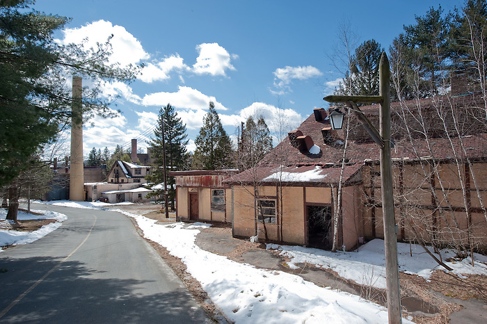 The Main Road Going Through the Abandoned Grossinger's Resort