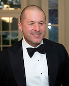 Sir Jony Ive, Senior Vice President, Apple, Inc. arrives for the Official Dinner in honor of Prime Minister David Cameron of Great Britain and his wife, Samantha, at the White House in Washington, D.C. on Tuesday, March 14, 2012..Credit: Ron Sachs / CNP.(RESTRICTION: NO New York or New Jersey Newspapers or newspapers within a 75 mile radius of New York City)