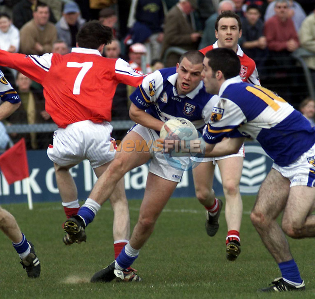 Action from Louth V Laois in Mullingar..Picture Paul Mohan Newsfile
