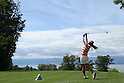 Ai Miyazato (JPN),JULY 24, 2011 - Golf :Ai Miyazato of Japan hits her tee shot during the final round of the Evian Masters at the Evian Masters Golf Club in Evian-les-Bains, France. (Photo by Yasuhiro JJ Tanabe/AFLO)