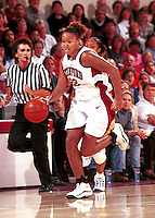 STANFORD, CA - NOVEMBER 26: Enjoli Izidor of the Stanford Cardinal during Stanford's 79-73 loss against the Tennessee Volunteers on November 26, 1999 at Maples Pavilion in Stanford, California.