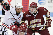 Tyler McNeely (Northeastern - 94), Jimmy Hayes (BC - 10) - The Northeastern University Huskies defeated the visiting Boston College Eagles 2-1 on Saturday, February 19, 2011, at Matthews Arena in Boston, Massachusetts.