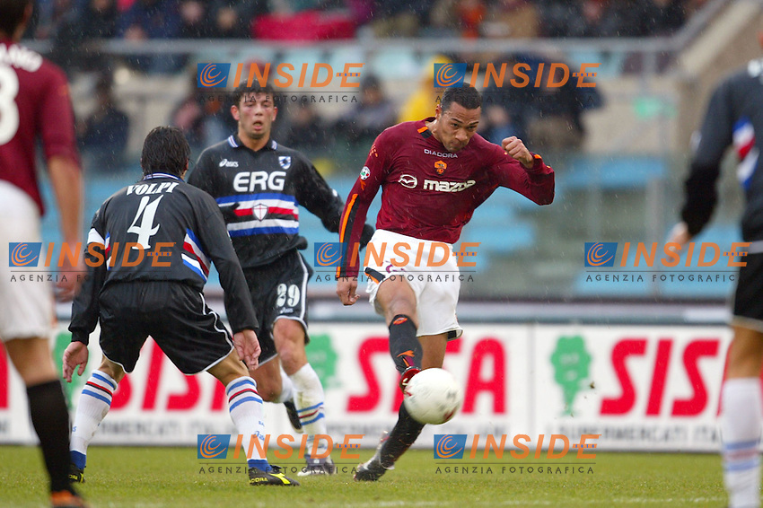 Roma 18/1/2004<br /> Roma Sampdoria 3-1<br /> A shot of John Carew (Roma)<br /> Foto Andrea Staccioli Insidefoto