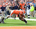 October 30, 2010 - Champaign, IL-  Illinois quarterback Nathan Scheelhaase (2) dives for the goal line but lands short in the game between the University of Illinois Fighting Illini and the Purdue Boilermakers at Memorial Stadium.  Illinois defeated Purdue 44 to 10.