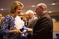 Queen Mathilde of Belgium meets with families of missing children - Belgium