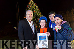 Joshua Roche, Sharon Roche, Frank Hartnett, James Roche,. launch the Remembrance Tree  at the Town Hall Princess Street Tralee
