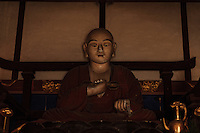 Buddhist statues along the route of the 88 temple pilgrimage, Shikoku, Japan, February 4, 2012.