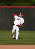 Lake Mary Rams outfielder Kenny Ramos (48) during practice before a game against the Lake Brantley Patriots on April 2, 2015 at Allen Tuttle Field in Lake Mary, Florida.  Lake Brantley defeated Lake Mary 10-5.  (Mike Janes Photography)