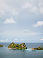 The landscape of the Penemu Islands group at Raja Ampat, West Papua, Indonesia.