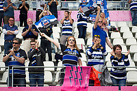 Bath fans in the crowd show their support after the match. European Rugby Challenge Cup Semi Final, between Stade Francais and Bath Rugby on April 23, 2017 at the Stade Jean-Bouin in Paris, France. Photo by: Patrick Khachfe / Onside Images