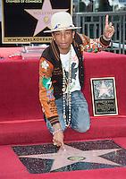 Pharrell Williams Star Ceremony