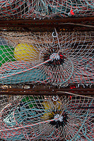 Nets and Buoys, St. Herman Harbor, Kodiak Island, Alaska, US