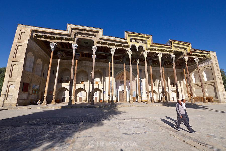 Uzbekistan, Bukhara. Bolo Hauz Mosque.