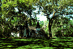 Georgia: Coast, Church on St. Simons Island.  Photo #: gacoas104..Photo copyright Lee Foster, 510/549-2202, lee@fostertravel.com, www.fostertravel.com