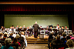 Waterbury, CT- 21  May 2017-052117CM05-  Peter Peluso leads the Connecticut Accordion Association orchestra along with students from Wolcott High School during a concert at the Mattatuck Museum on Sunday.  The song list included a blend of movie classics including jazz, classical and popular music. The group is looking to reintroduce the accordion into schools through an initiative called Bellows Up: The Great Squeeze Project.  Christopher Massa Republican-American