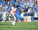Ole Miss' Joel Kight (15) vs. Kentucky's CoShik Williams (26) at Commonwealth Stadium in Lexington, Ky. on Saturday, November 5, 2011. Kentucky won 30-13...