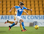 St Johnstone U20 v Motherwell U20&hellip;03.10.16.. McDiarmid Park   SPFL Development League<br />Michael Coulson goes past Allan Campbell<br />Picture by Graeme Hart.<br />Copyright Perthshire Picture Agency<br />Tel: 01738 623350  Mobile: 07990 594431