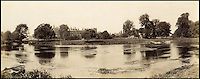 BNPS.co.uk (01202 558833)<br /> Pic: Bonhams/BNPS<br /> <br /> Prout's picture of Eton College.<br /> <br /> 'Old man river, he just keeps rollin' - A remarkable collection of panoramic photographs of the Thames taken 160 years ago have emerged for auction, and they reveal how little the famous old river has changed in the last century and a half.<br /> <br /> They follow the river from London to Oxford in 40 photographs providing a fascinating insight into how the famous river looked in the mid-19th century.<br /> <br /> Londoner Victor Prout started photographing the Thames in 1857 using a camera which would produce wide-vision images because of a lens that swung round and 'scanned' sections of the picture.<br /> <br /> This rare complete copy of the first edition of Prout's pioneering panoramics has emerged for auction and is tipped to sell for &pound;12,000 when they go under the hammer at Bonhams on March 1.