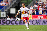 Heath Pearce (3) of the New York Red Bulls. The New York Red Bulls defeated DC United 3-2 during a Major League Soccer (MLS) match at Red Bull Arena in Harrison, NJ, on June 24, 2012.