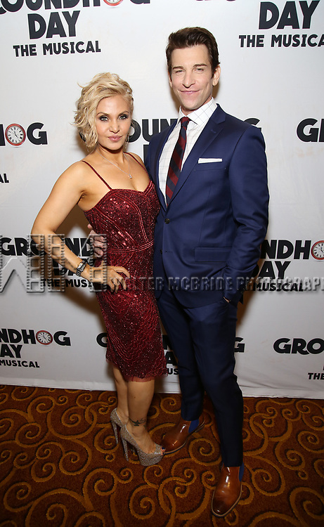Orfeh and Andy Karl attend the Broadway Opening Night After Party for 'Groundhog Day' at Gotham Hall on April 17, 2017 in New York City.