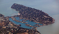 aerial photograph, Belvedere, Marin County, California