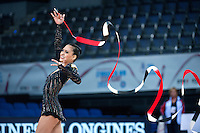 September 09, 2015 - Stuttgart, Germany - SERENA LU of USA performs in AA qualifications at 2015 World Championships.