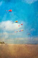 Beach Kite Flying High dynamic range imaging (HDRI or HDR)