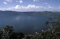 Lago de Coatepeque in western El Salvador, Central America.