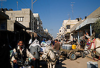 Rafah, Gaza Strip, 21 Nov 2009.This busy market street near the 'tunnels zone' in Rafah was totally deserted during the war for fear of the Israeli bombings.