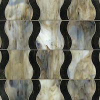 Nile Jewel glass water jet mosaic shown in glass Jasper and Lavastone.