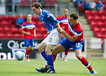 St Johnstone v Rangers... 30.07.11   SPL Week 2.David Robertson and Lee Wallace.Picture by Graeme Hart..Copyright Perthshire Picture Agency.Tel: 01738 623350  Mobile: 07990 594431