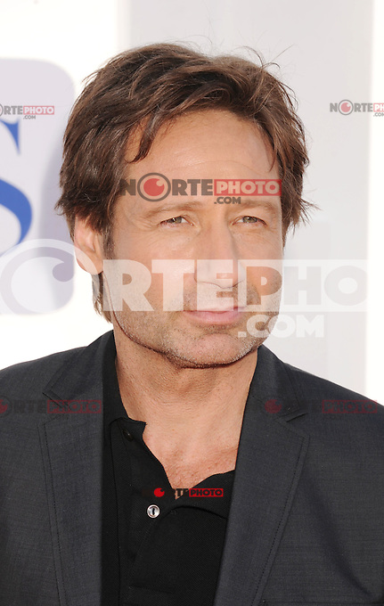 BEVERLY HILLS, CA - JULY 29: David Duchovny arrives at the CBS, Showtime and The CW 2012 TCA summer tour party at 9900 Wilshire Blvd on July 29, 2012 in Beverly Hills, California. /NortePhoto.com<br />