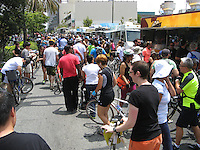 More than half a dozen food trucks were near LACMA along Wilshire at CicLAvia.
