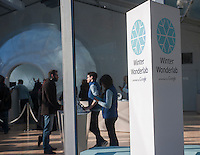 Google's Winter Wonderlab pop-up in Bryant Park in New York on Friday, December 13, 2013. The minimalist store, one of six Google has set up around the country to hawk its products, concentrates on its Nexus 7, Chromebook, Chromecast and Google Play offerings. (© Richard B. Levine)
