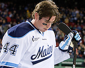 Ryan Hegarty (Maine - 44) - The University of Maine Black Bears defeated the University of New Hampshire Wildcats 5-4 in overtime on Saturday, January 7, 2012, at Fenway Park in Boston, Massachusetts.