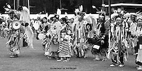to the beat of the drums,native american dancers in full dress