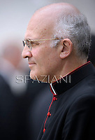 Monsignor Alfred Xuereb private secretary to Pope Francis during his weekly general audience in St. Peter square at the Vatican, Wednesday. 1 May 2013