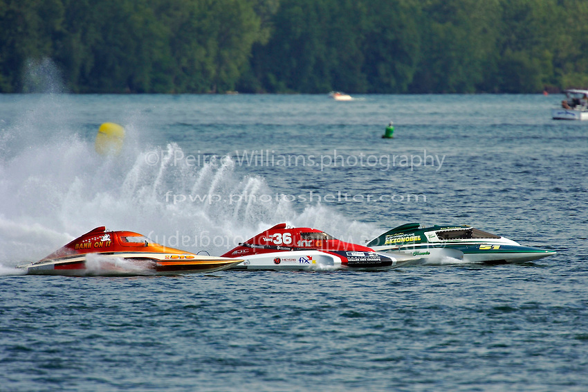 "(L to R): Kent Henderson, CS-519 ""Bank On It"" , CS-36 and CS-51  (2.5 Litre Stock hydroplane(s)"