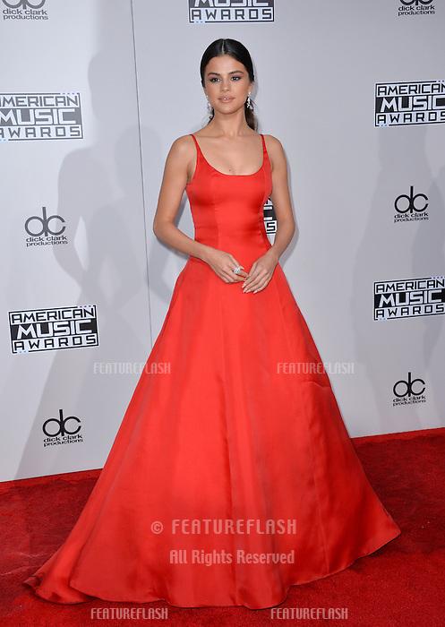 LOS ANGELES, CA. November 20, 2016: Actress/singer Selena Gomez at the 2016 American Music Awards at the Microsoft Theatre, LA Live.<br /> Picture: Paul Smith/Featureflash/SilverHub 0208 004 5359/ 07711 972644 Editors@silverhubmedia.com