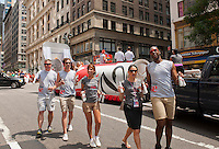 Coca-Cola promotes Diet Coke at the 43rd annual Lesbian, Gay, Bisexual and Transgender Pride Parade on Fifth Avenue in New York on Sunday, June 24, 2012. The parade took place on the one year anniversary of the legalization of gay marriage in New York.  (© Richard B. Levine)