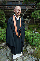 "The head priest of Chusonji temple, Choujun Kanno, Hiraizumi, Japan, 28 August 2008. The temple was founded in 850. Hiraizumi in Northern Japan flourished as the seat of the Oshu Fujiwara clan for around 100 years from the end of the 12th century. The city was built to be an earthly recreation of the Buddhist ""Pure Land"" or Nirvana."