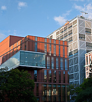 Diana Center, Barnard College, by Weiss/Manfredi, Northwest Corner Building, Columbia University designed by José Rafael Moneo,Morningside Heights, Manhattan, New York City, New York
