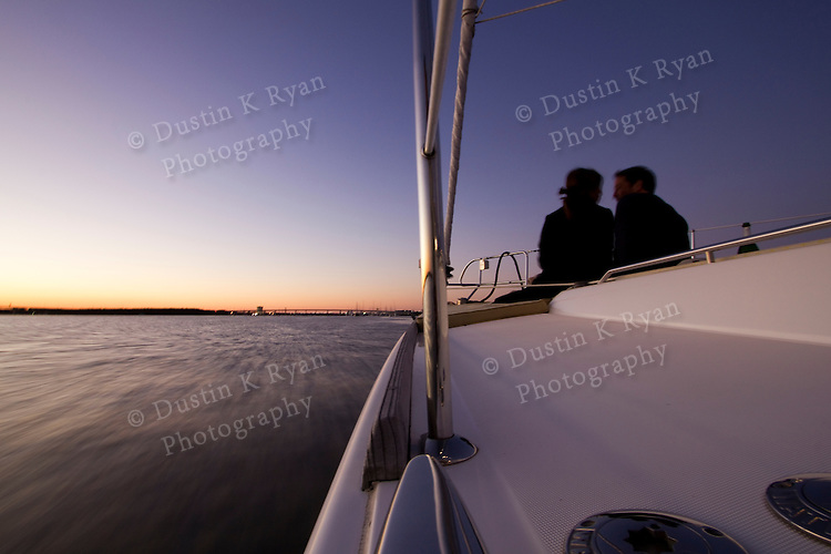 Sailboat sunset couple_MG_3886.jpg. Couple Sailing on sailboat drinking ...